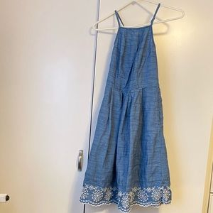 Knee length denim dress
